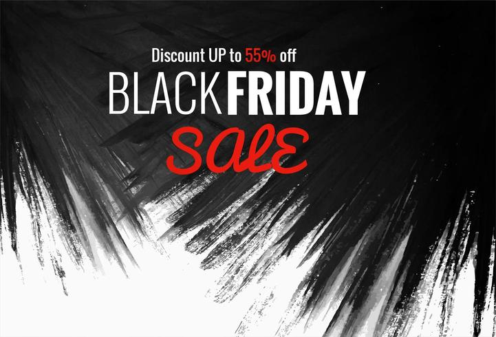 Fond de vente shopping noir vendredi grunge vecteur