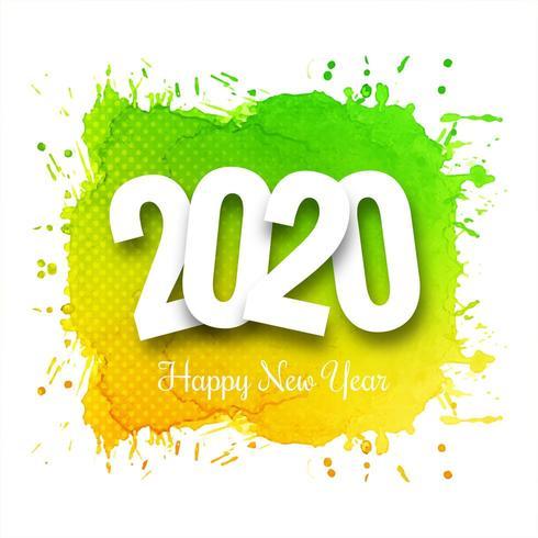 Fond de célébration texte 2020 nouvel an lumineux vecteur