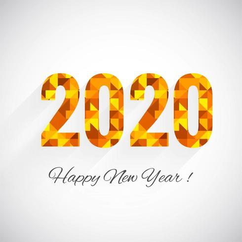 Pixelated 2020 voeux texte nouvel an vecteur