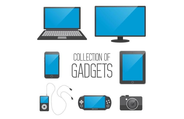 Collection de gadgets vecteur