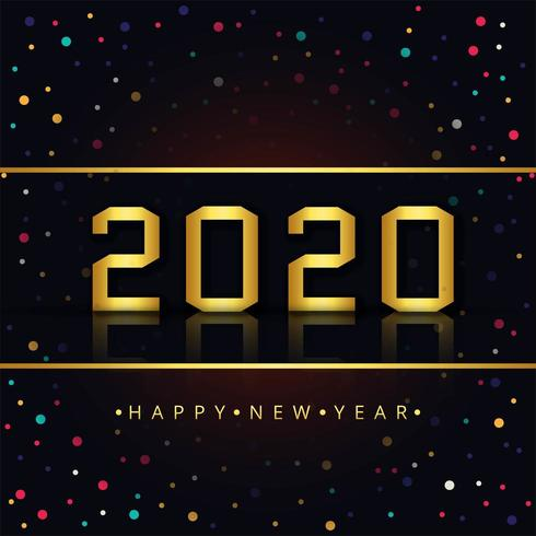Bonne année 2020 vecteur