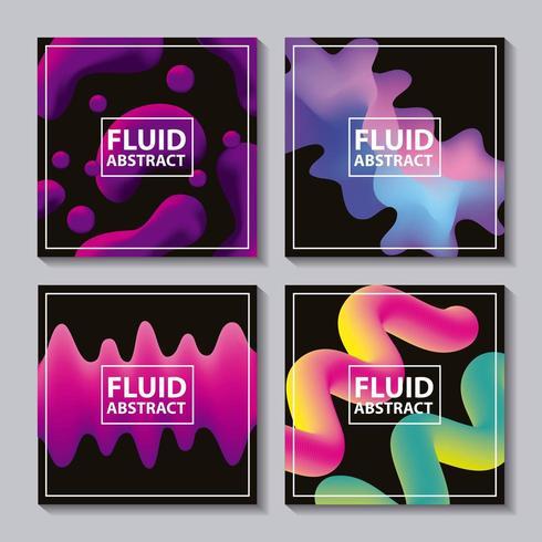 fluide abstrait couvre fond vecteur