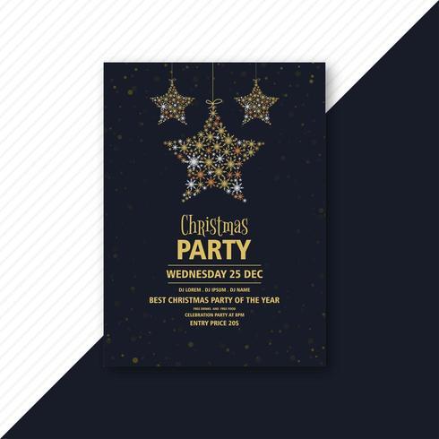 Modèle de flyer invitation fête de Noël vecteur