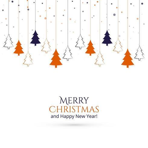 Accrocher le fond de carte d'arbre de Noël vecteur