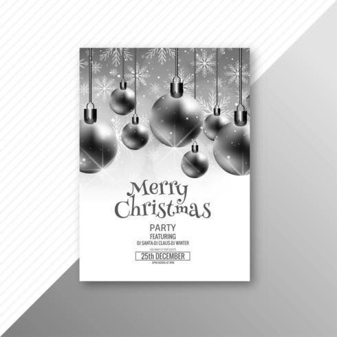 Modèle de fond de brochure joyeux Noël carte vecteur