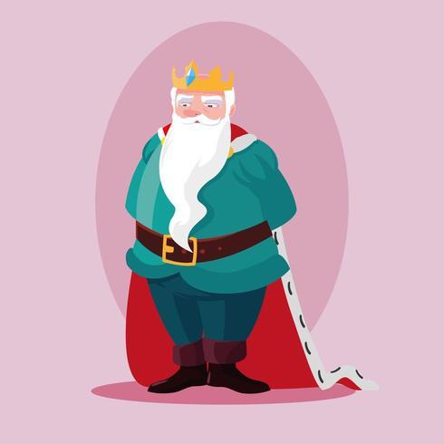 roi personnage de conte de fées magique avatar vecteur