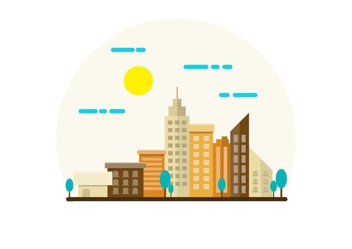 Illustration de paysage de ville vecteur