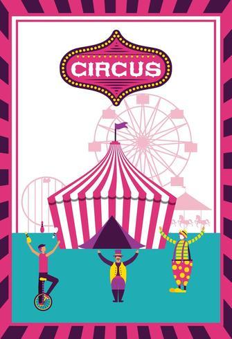 Affiche de la fête du cirque vecteur