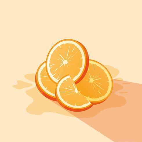Tranche de dessin orange vecteur illustratio