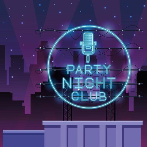 Disco party néons vecteur