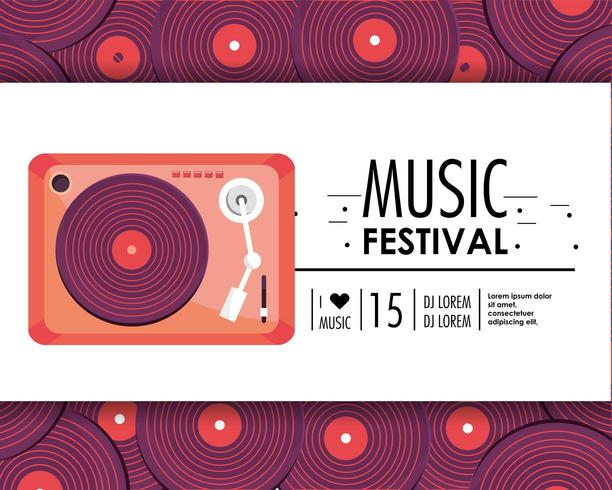 équipement de radio à la fête du festival de musique vecteur