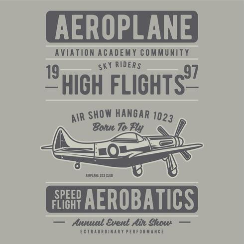 ancien avion, cavalier du ciel vecteur