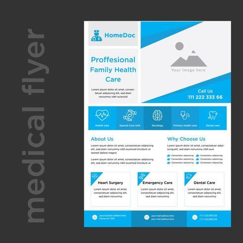 Docteur Publicité Services médicaux Flyer promotionnel vecteur