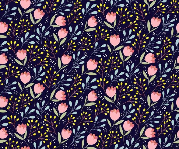 Modèle sans couture de fleurs mignonnes vecteur