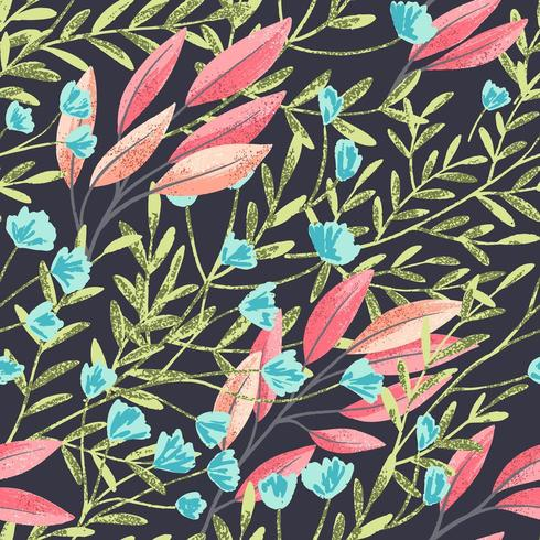 Champ Foral Seamless Pattern-05 vecteur