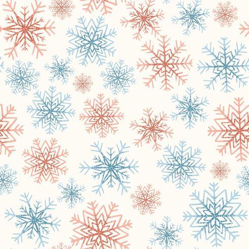 Seamless Pattern avec des flocons de neige vecteur