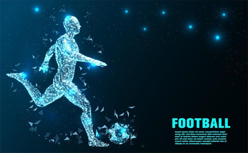 Joueur de football technologie abstraite vecteur