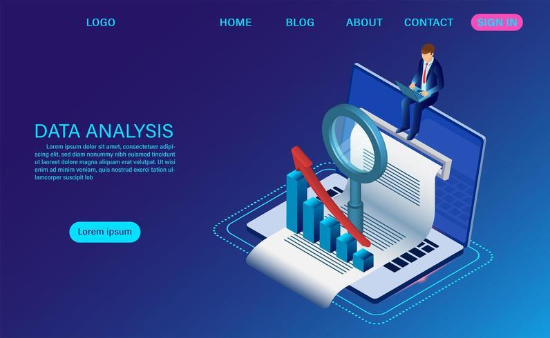 Concept d'analyse de données vecteur