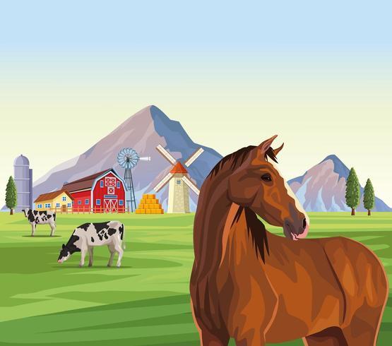 dessins animés d'animaux de ferme vecteur