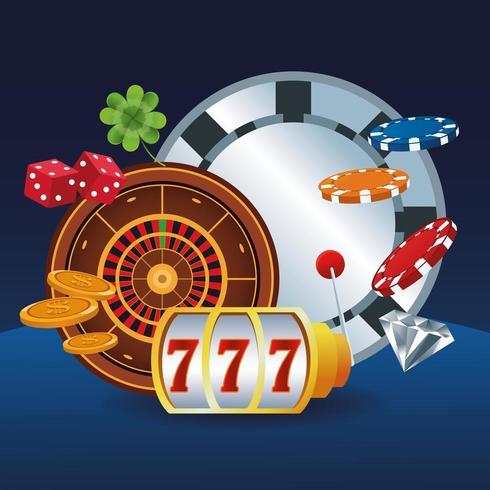 Dessins animés de jeux de casino vecteur