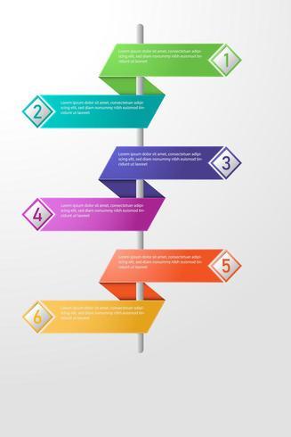Bannière colorée infographique. vecteur