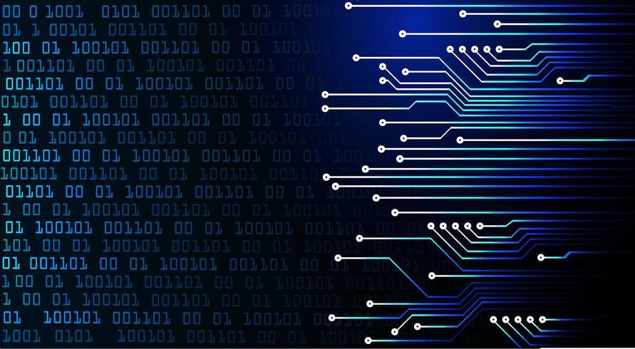 Concept technologique futur du cyber-circuit bleu vecteur