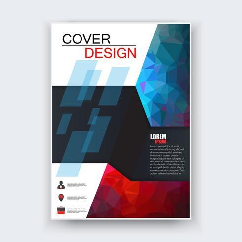 Arrière-plan de conception de flyer abstrait vecteur
