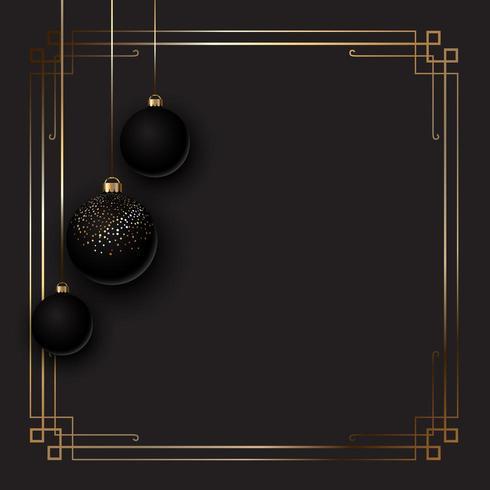 Fond de Noël élégant avec des boules vecteur