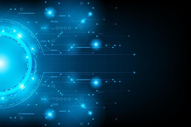 Concept abstrait de circuit futuriste vecteur