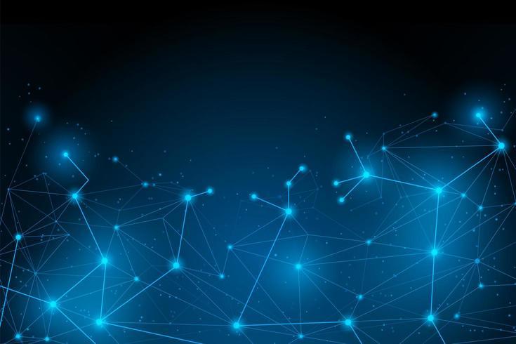 Connexion futuriste abstraite vecteur