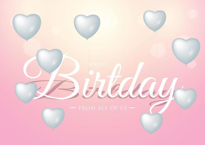 Conception de typographie de célébration de joyeux anniversaire pour carte de voeux vecteur