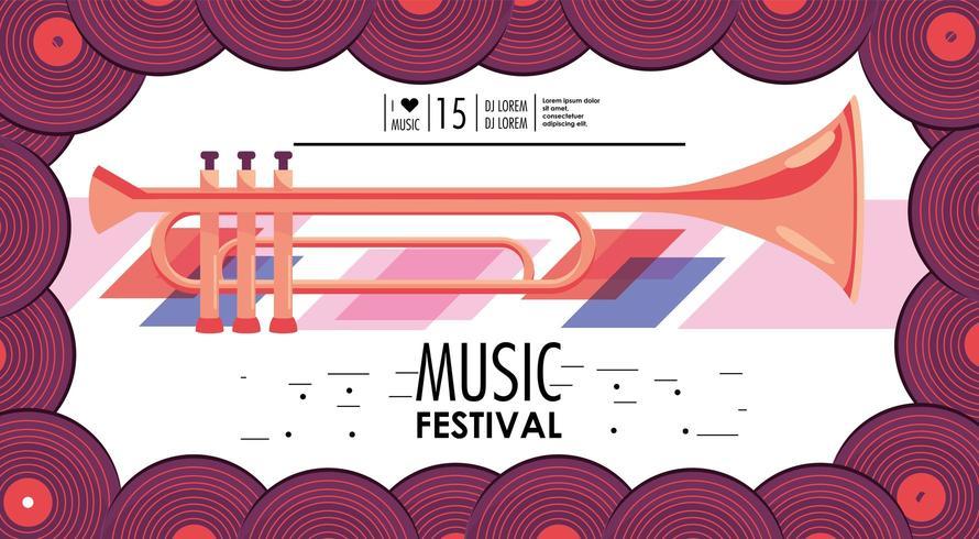 bannière d'événement festival de musique vecteur