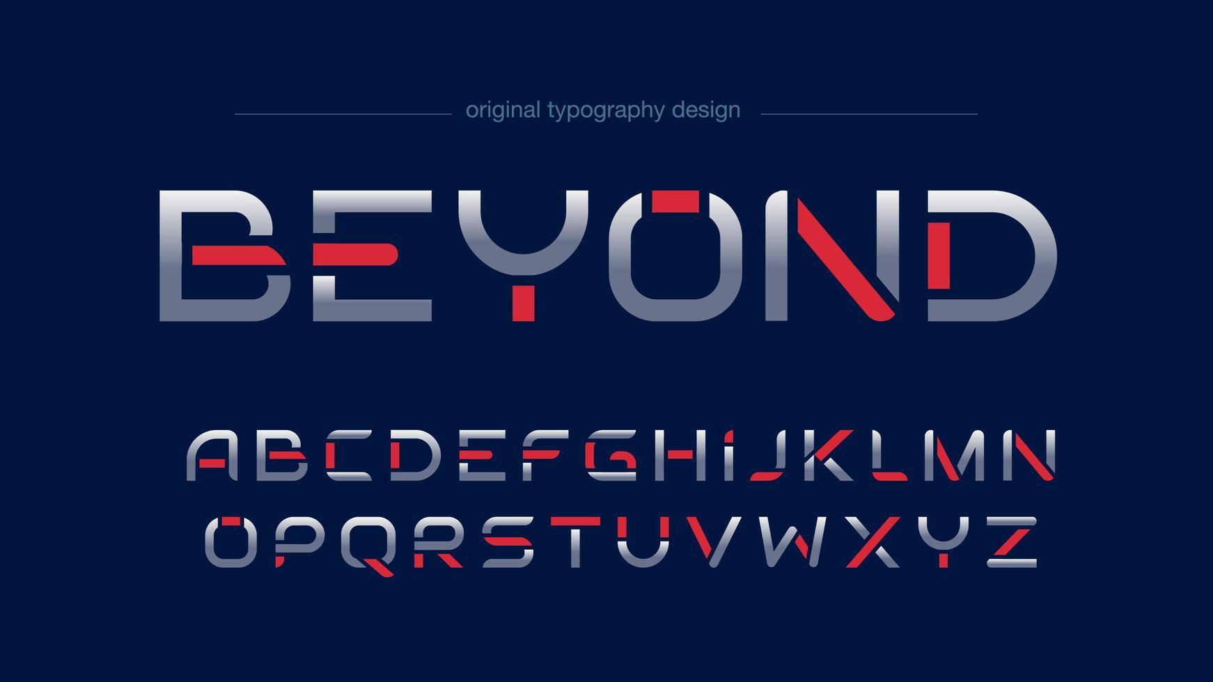 Conception de typographie sportive futuriste vecteur