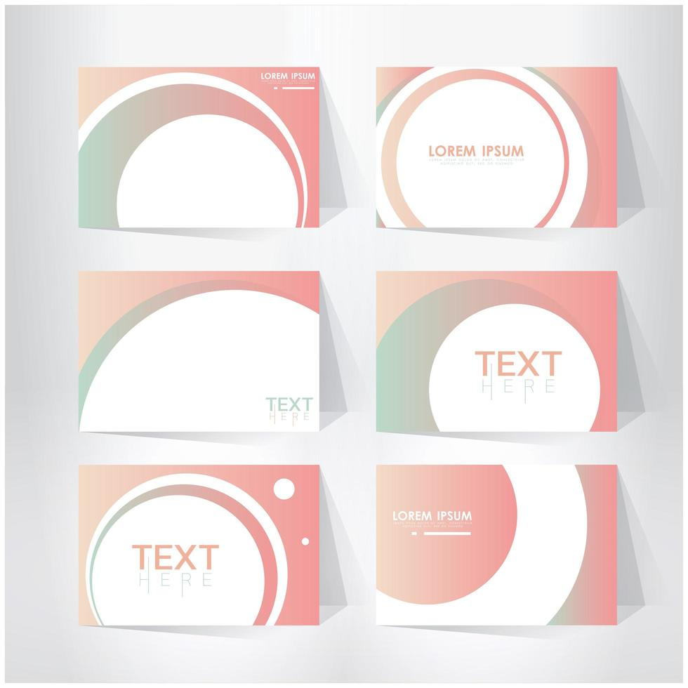 ensemble de modèles de page de couverture abstraite rose vecteur