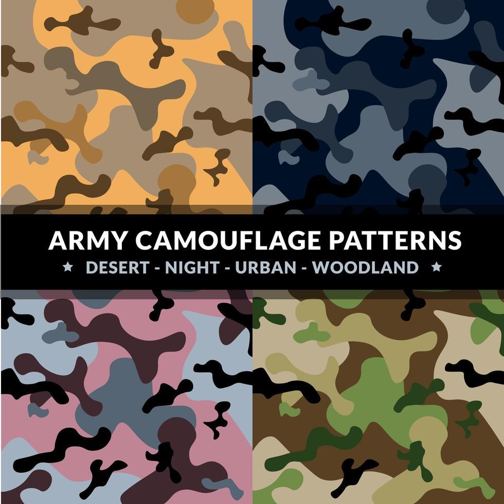 ensemble de motifs de camouflage de l'armée vecteur