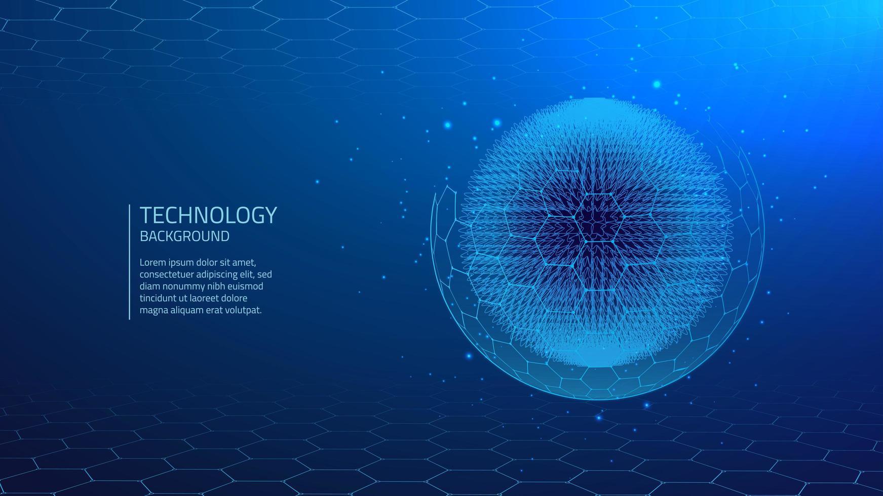 Fond bleu de technologie cyber vecteur