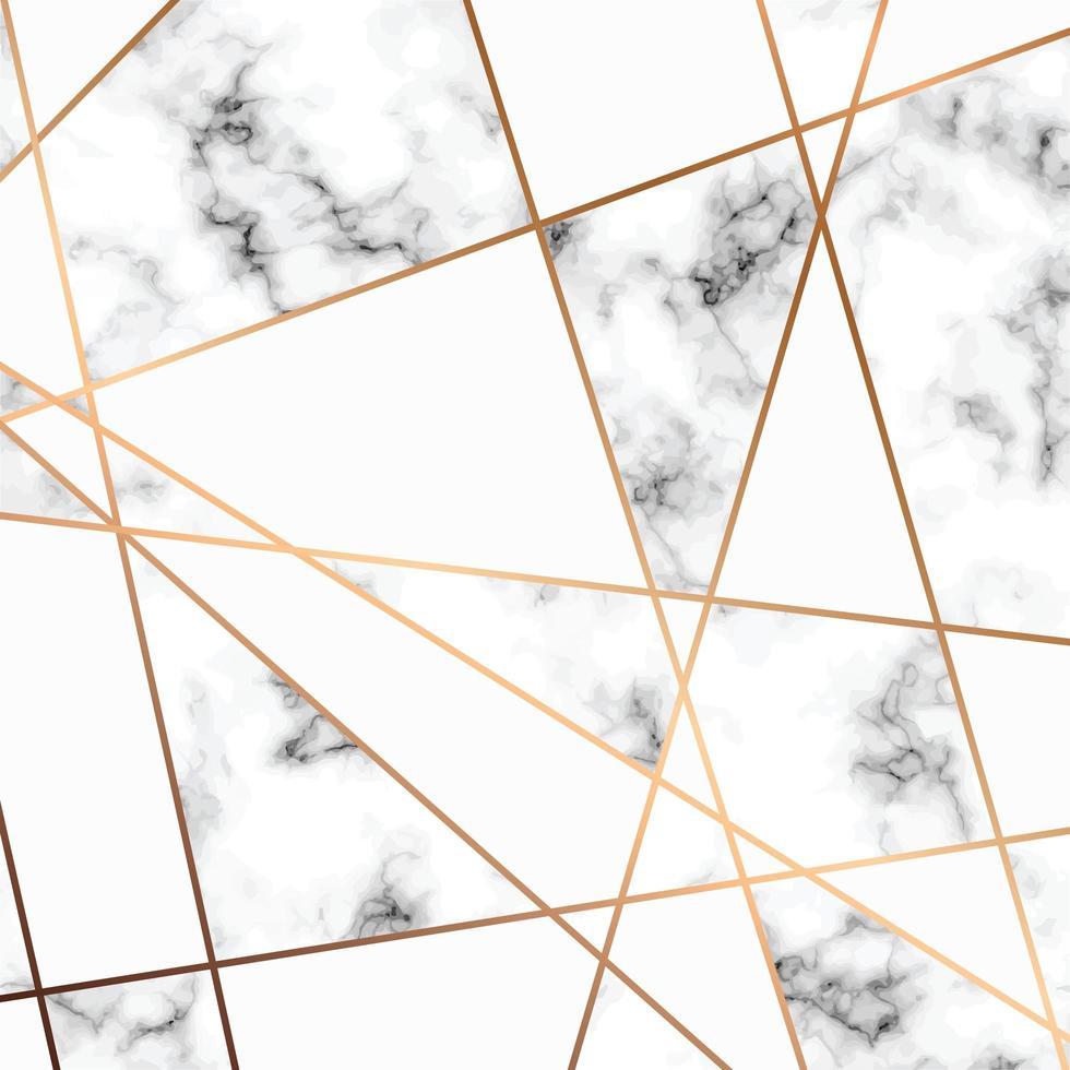 Conception de texture en marbre avec des lignes dorées vecteur