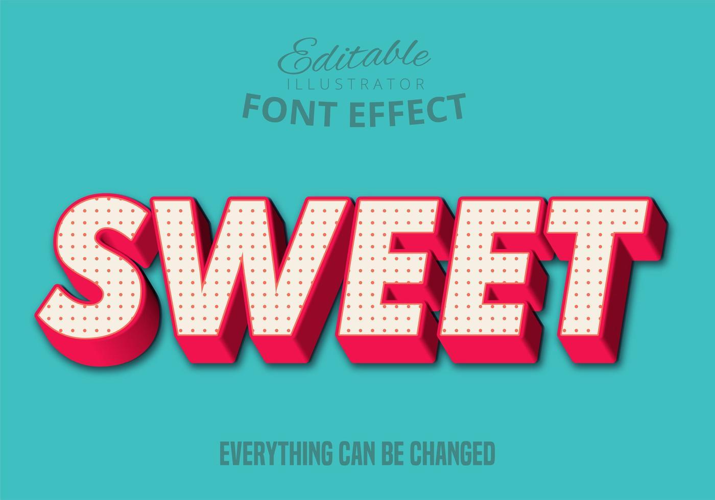 Texte doux, style de texte modifiable vecteur