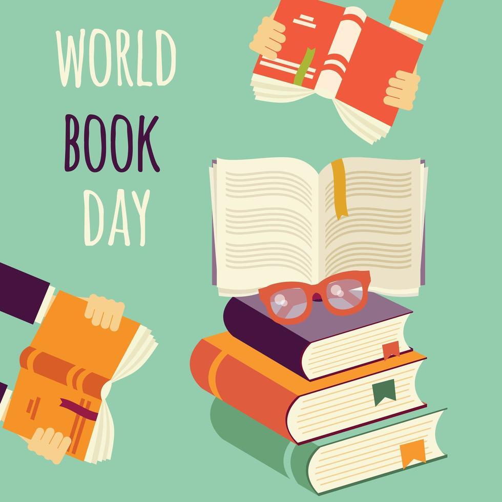 Journée mondiale du livre vecteur