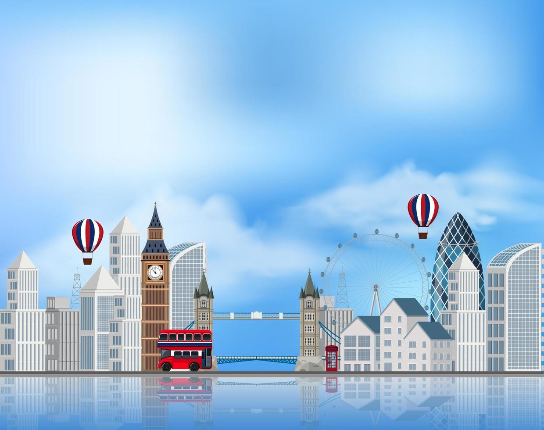 Une attraction touristique à Londres vecteur