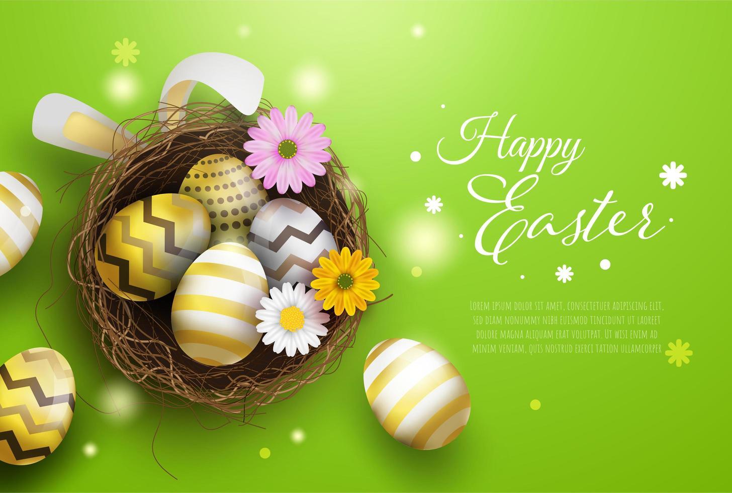 Fond de décoration joyeuses Pâques vecteur