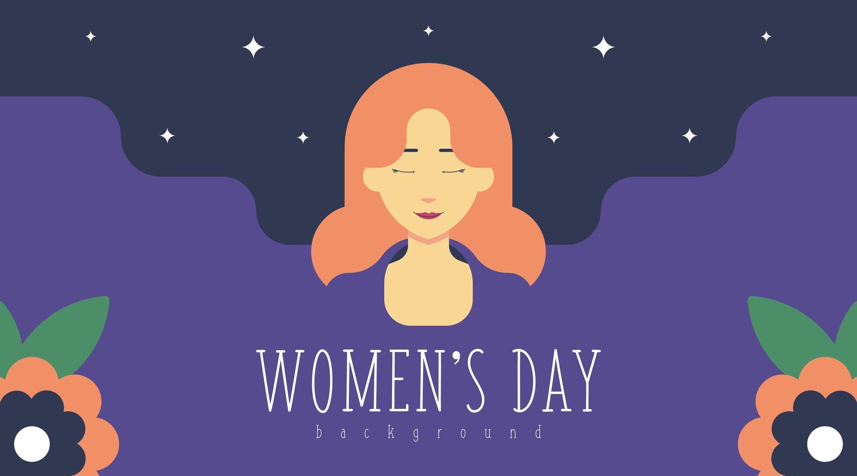 Illustration de fond de la journée de la femme du 8 mars vecteur