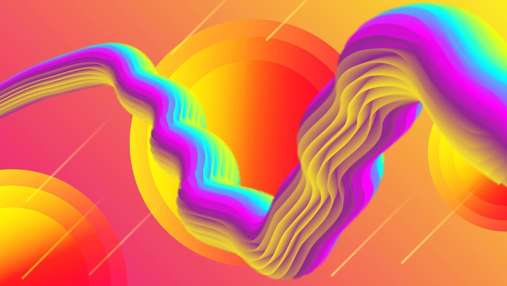 Conception de marbre fluide coloré vecteur