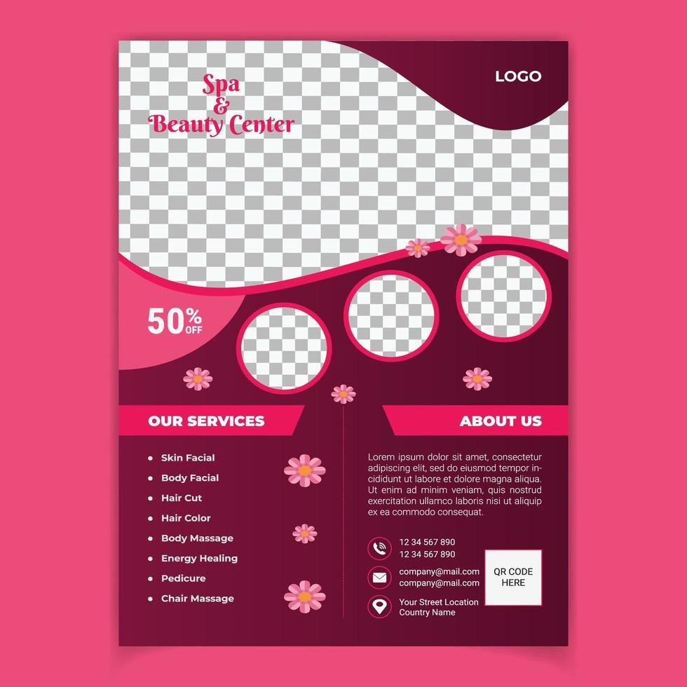 Modele De Flyer Spa Salon De Beaute Telecharger Vectoriel Gratuit Clipart Graphique Vecteur Dessins Et Pictogramme Gratuit