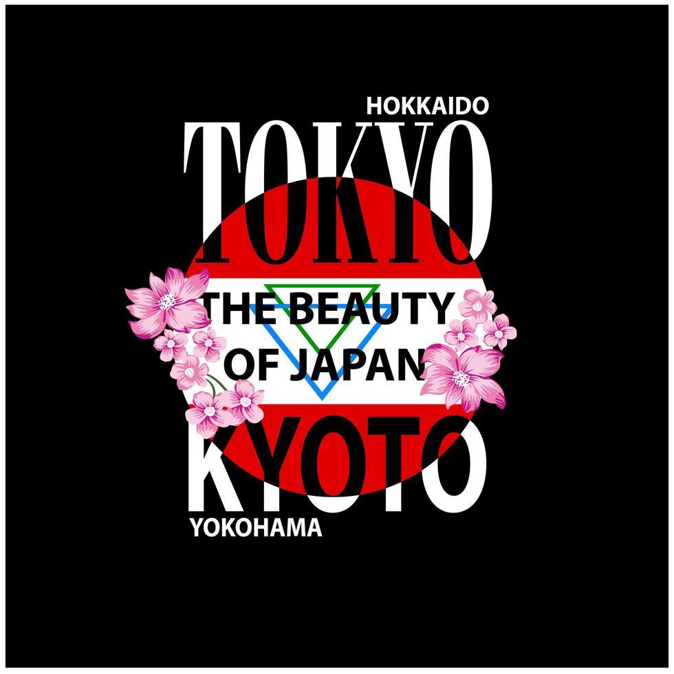 impression de typographie de Tokyo vecteur