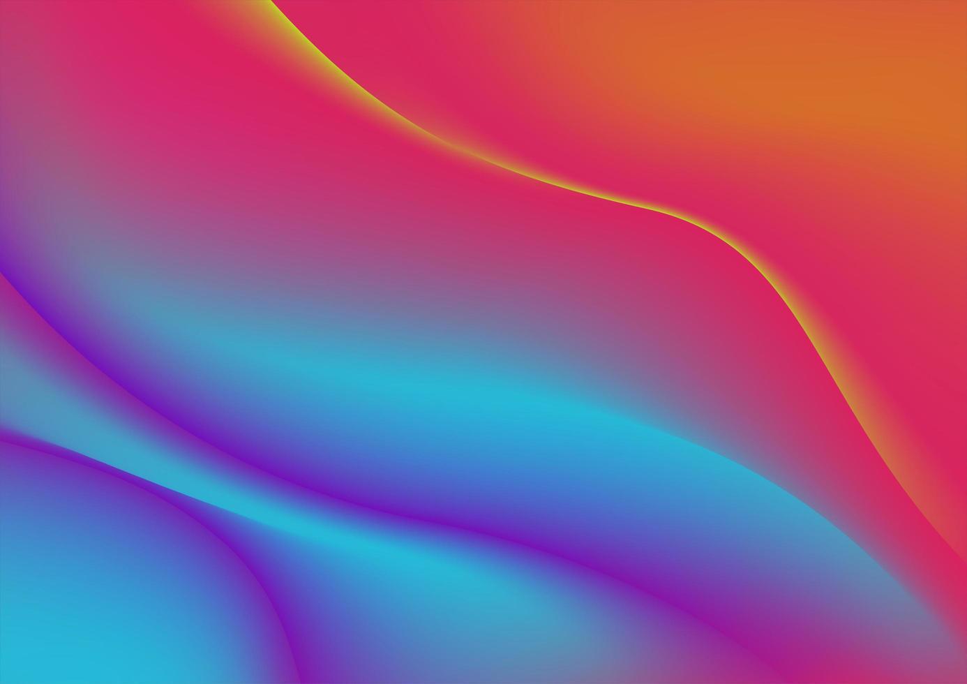 tissu déformé coloré abstrait vecteur