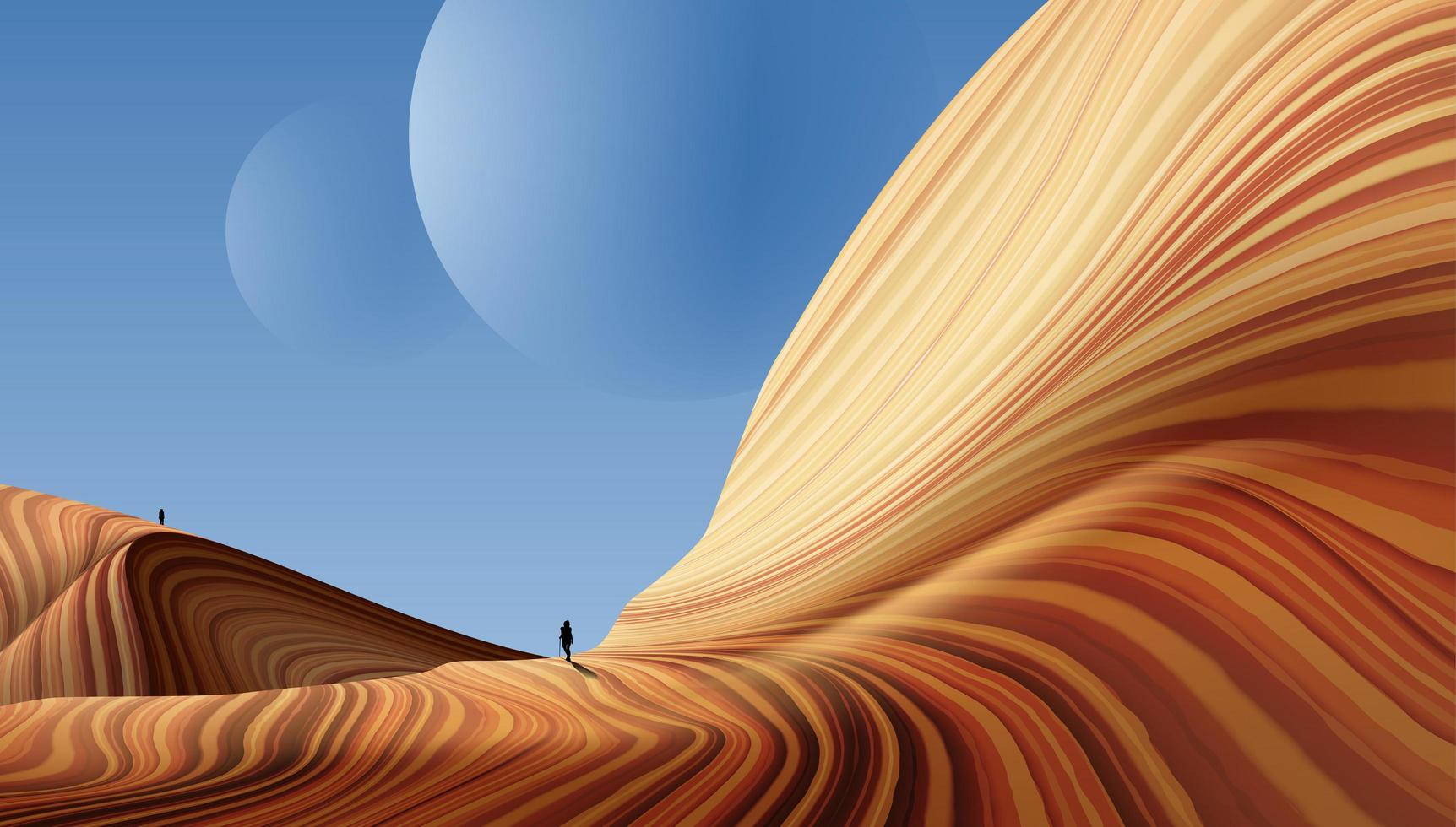 paysage de canyon antilope vecteur