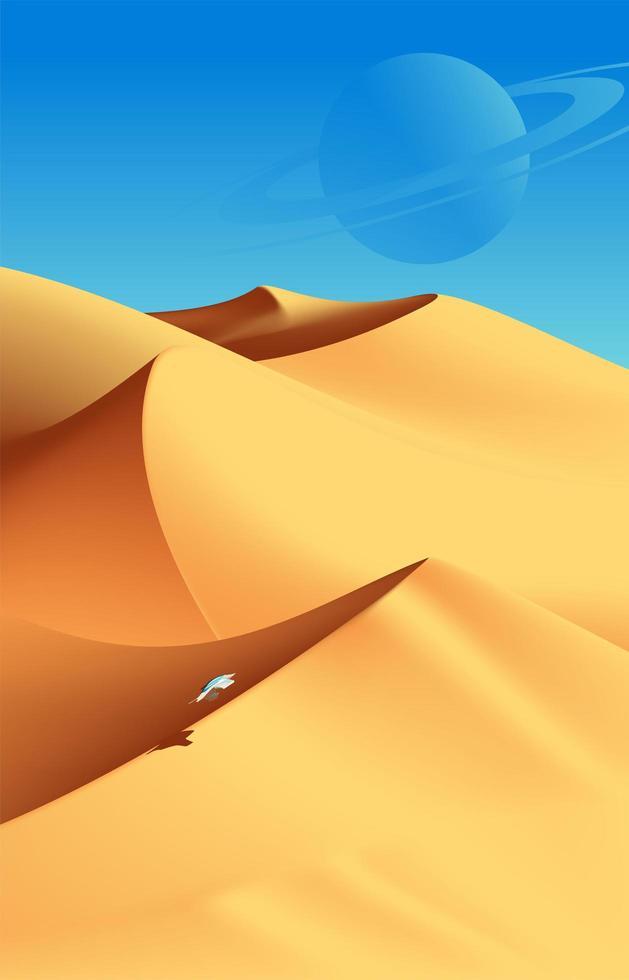 paysage désertique de jour vecteur
