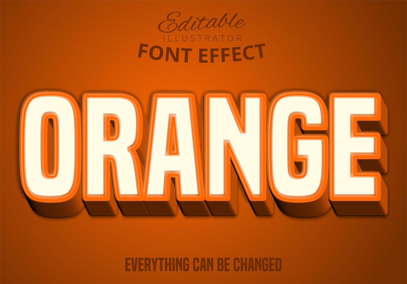 texte orange, jeu de polices modifiables vecteur