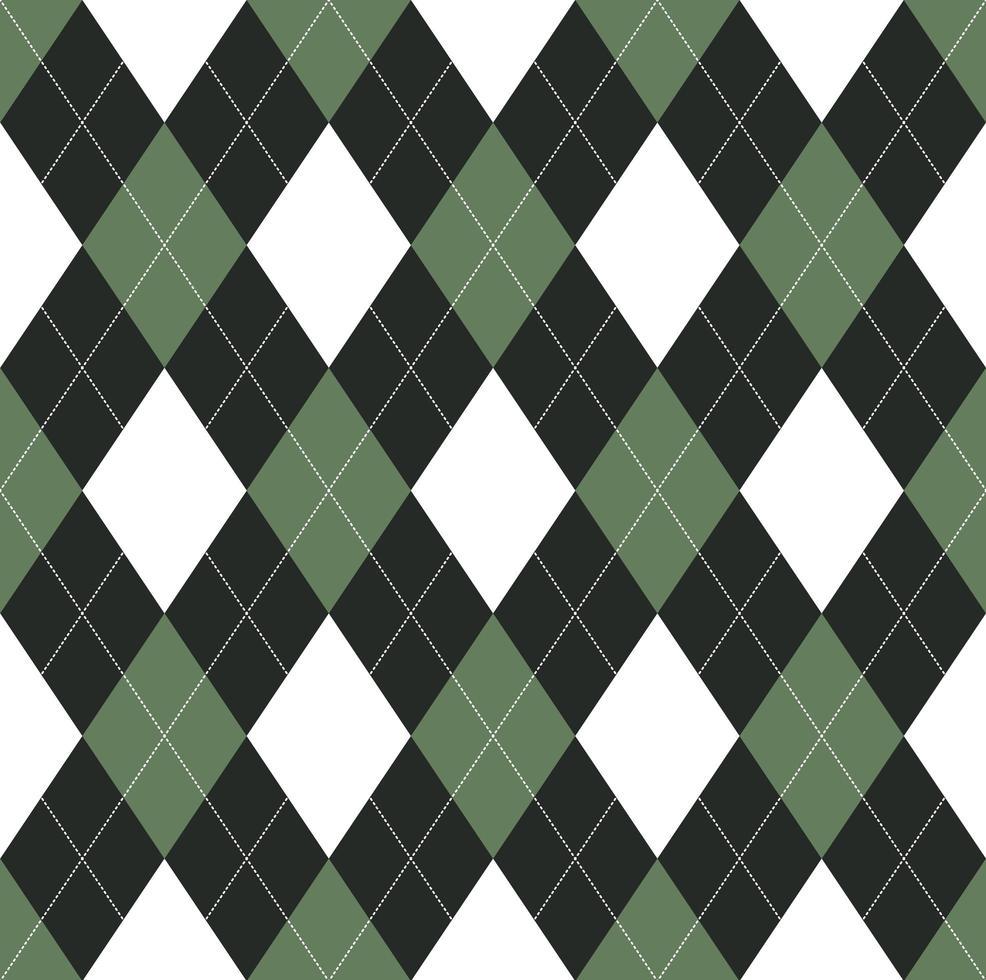 motif argyle vert et noir sans soudure vecteur
